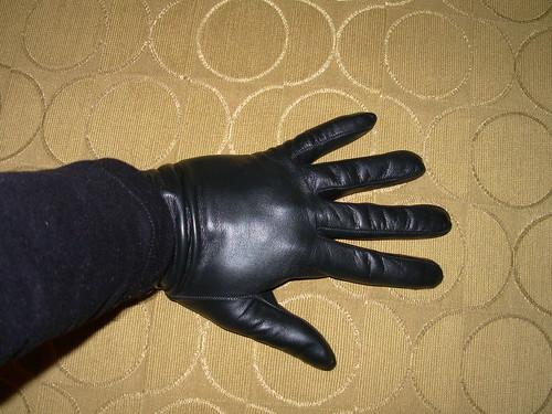 Shiny glove fetish