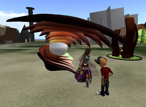 new sculpture idea, the eye 3 in secondlife 1