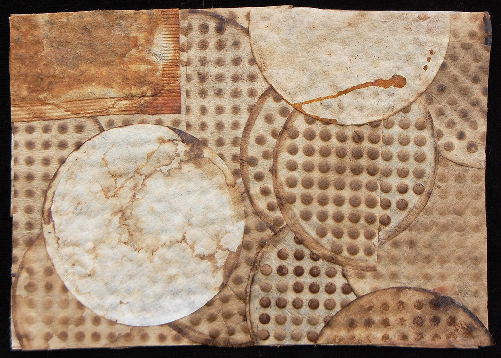 coffee filter collage #1 (front view, 2009)