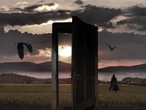 She left the Door open by h.koppdelaney, on Flickr
