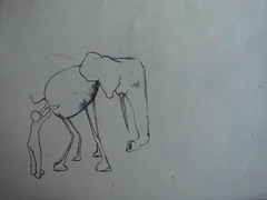 Helping his friend (Anthony Ferrara) Tags: ink sketch marionette ballpointpen