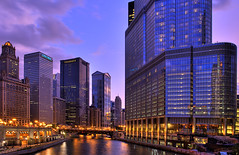 (Kevin Dickert) Tags: city sunset sky urban chicago skyline architecture night clouds buildings river downtown cityscape skyscrapers riverside loop dusk towers explore canon5d riverfront bluehour trumptower chicagoriver pinksky hdr highdynamicrange core riverwalk highrises nightfall density leoburnett urbanity unitrinbuilding jewelersbuilding canonef1740mmf4l donnelley trumpinternationalhotelandtowerchicago chicagoriverwalk iamhydrogen kevindickert