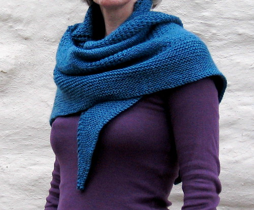 textured shawl as scarf