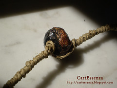 collana con perle di cartapesta (part.) (CartEssenza) Tags: beads perle papiermache collane cartapesta