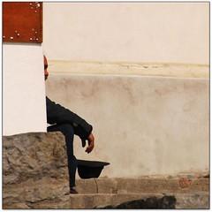 Poor profile (Jerzy Durczak) Tags: man hat profile beggar begging 500x500 fivestarsgallery jurekd winner500