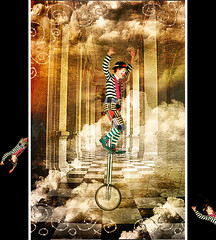The Magic of the Circus (ZedZap Photos) Tags: clouds textures clowns memoriesbook platinumheartaward texturesonly zedzap