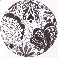 doodle drawing 14 (memyni) Tags: blackandwhite wings drawing circles patterns curves doodle paisley zentangles