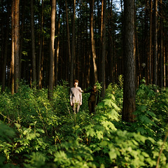 a secret about a secret (kygp) Tags: girls portrait people colour 6x6 nature boys analog forest square photography julia russia hasselblad format middle ruslan ufa moyen 503cw lihin