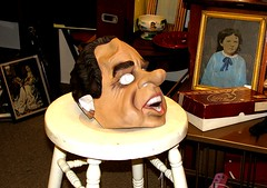 Richard Nixon mask in a Portland, Oregon antiq...