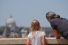 foto padre figlia roma insegnamento