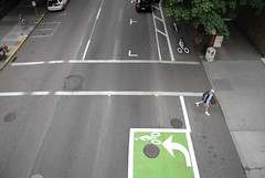 Cycletrack on SW Broadway-10