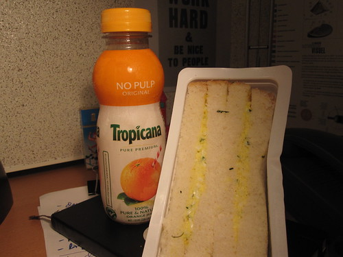 Juice and egg sandwich - $7.10