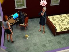 Liemannen spelar dator efter att ha hämtat Vera...