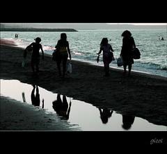 beach is over (gicol) Tags: ocean sea summer italy reflection beach season walking italia mare estate fine playa reflejo verano end plage puglia spiaggia brindisi riflesso apulia bagnasciuga stagione