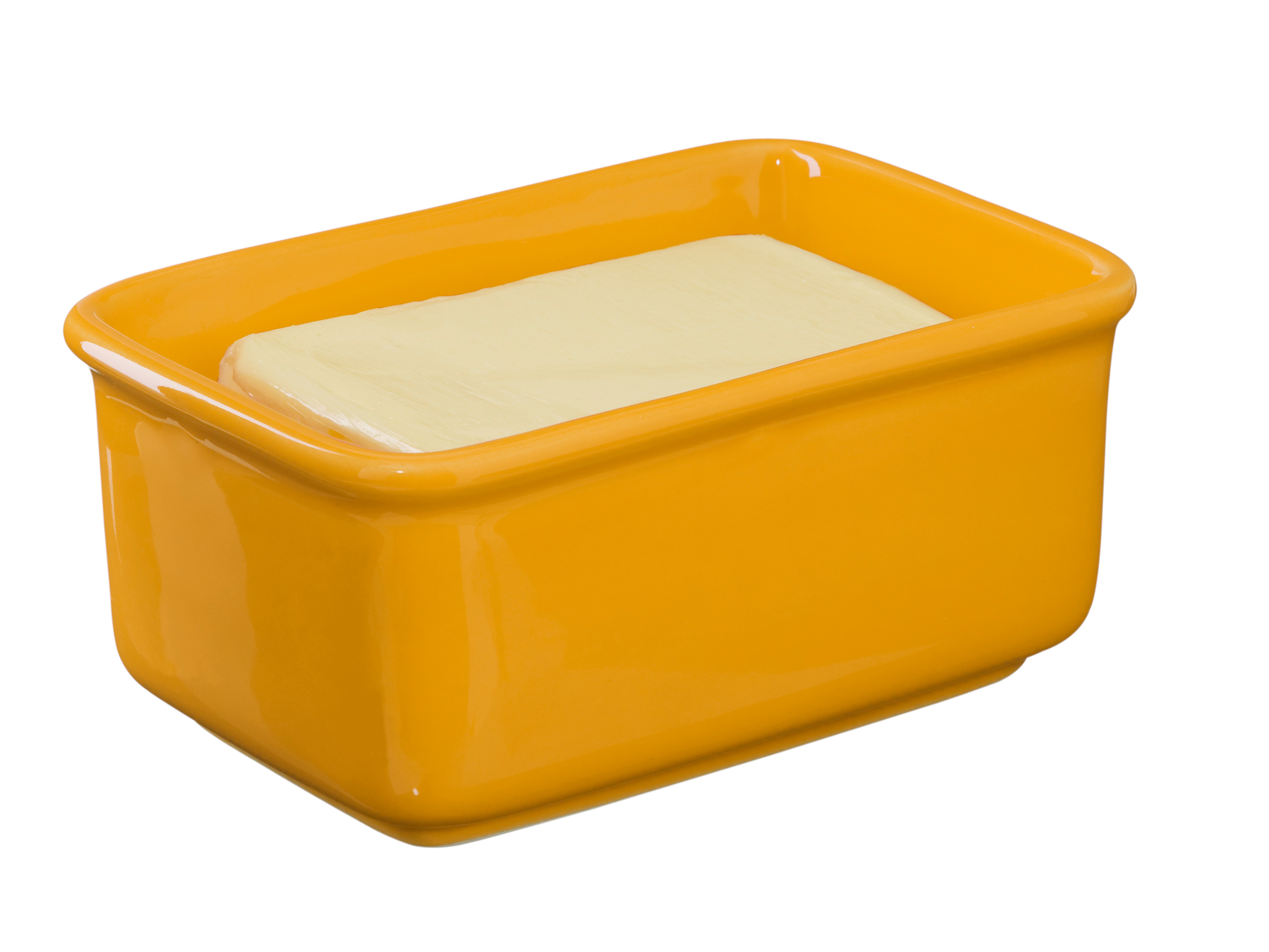 Butter Dish - Is that Plastic? - Yellow (with butter)