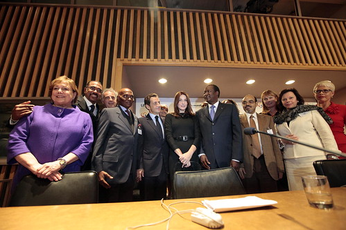 First Lady of France Attends Meeting on HIV/AIDS Prevention