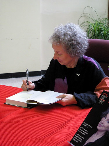 Margaret Atwood, signing Sherry's copy of Year of the Flood