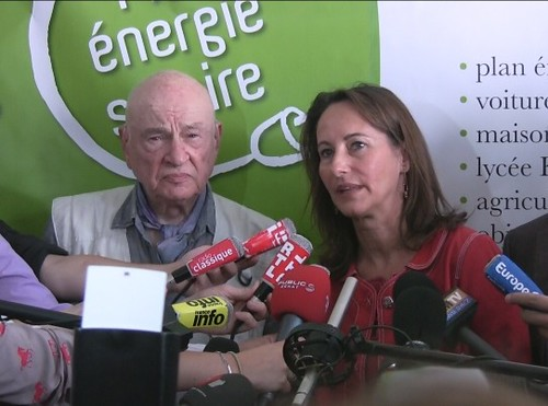 Ségolène Royal et Edgar Morin