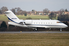 N604BC - Ball Corporation - Canadair CL-600-2B16 Challenger 604 - Luton - 090227 - Steven Gray - IMG_0098