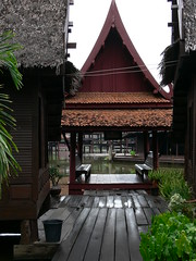 Gabled Approach . (sccart) Tags: thailand floatingmarket intheworld samutprakan muangboran ancientcity bangpoo floatingpavilion ancientsiam largestopenairmuseum