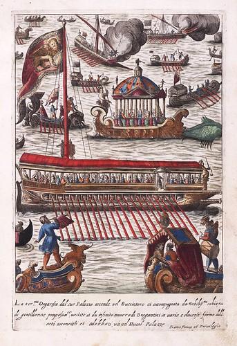 013- La Dogaresa de Venecia acompañada de su sequito-Habiti d'hvomeni et donne venetiane 1609
