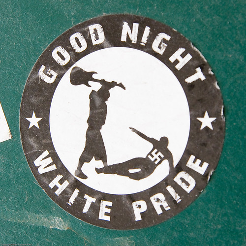 Anti-fascist sticker by you.