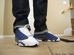 Wdywt Jordan XIII (Never Wear Them) Tags: blue white french paw air nike jordan 13 panther flint x3 xiii flints wdywt