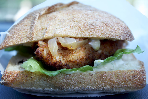Cod Cheek Sandwich