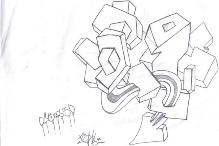 Boceto Graffiti A Lapiz Imagui