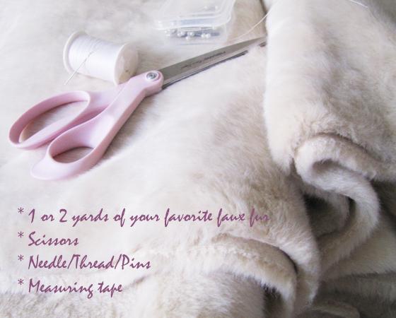 DIY-faux-Fur-vest-materials