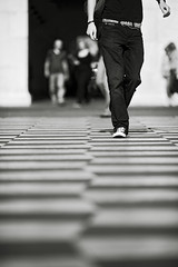 Walking the Line (Brett Butler) Tags: camera blackandwhite france club mono nice brighton candid hove streetphotography line brett buter blackdiamond plazza brettbutler