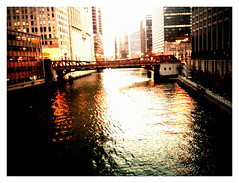 South branch of the river (swanksalot) Tags: bridge chicago water reflections washington chicagoriver randolph iphone faved swanksalot sethanderson bestcamera chipubradiopnw