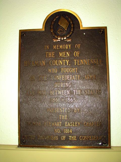 Hickman Co Confederate Plaque