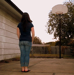Day 88 of 365 - Confidently In The Direction Of My Dreams (erirae) Tags: basketball fence court hope goal weeds cement shed dream eerie direction dreams goals heels heel ankle basketballcourt ankles goalpost confidence facing thoreau deadplants henrydavidthoreau basketballgoal project365 365days