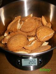 Tarta de queso y lima-galletas
