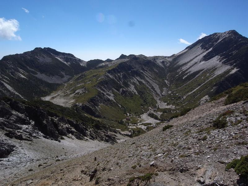 北峰望上下圈谷