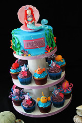 Underwater World (Bella Cupcakes (Vanessa Iti)) Tags: birthday flowers blue shells fish seaweed water purple crab bubbles pearls octopus mermaid kina
