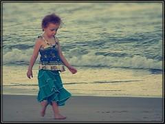 Baby Steps (C|-|ANDRA) Tags: ocean sea india cute beach water girl children french kid xpro child little walk crossprocess sony steps gimp cybershot step chennai dsc h20 thiruvanmiyur 266