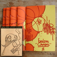 Endless Canvas Zine - Issue #2 - Optimist / Logo Limited Edition (EndlessCanvas.com) Tags: sanfrancisco ca yards streetart pez logo graffiti oakland berkeley log wheatpaste tag stickers bayarea nesta safetyfirst optimist bombs burners sate throws deadeyes swampy gats pezendlesscanvaszineissue2optimistlogolimitededition
