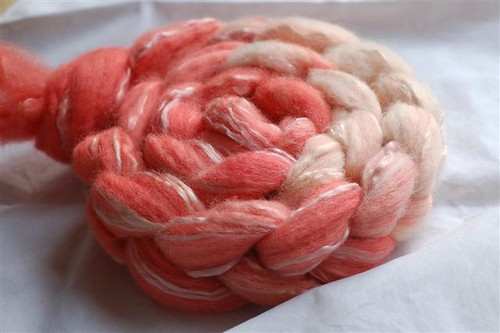 Hand Dyed Spinning Fibre (Natural Dye)