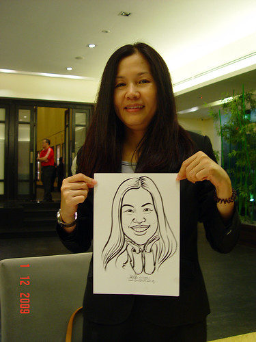 Caricature live sketching for Siam Express - 1