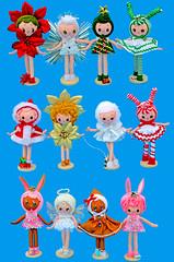 Boopsie Pose Dolls! (boopsie.daisy) Tags: santa christmas holiday tree bunny japan angel vintage pose star colorful doll dolls handmade ooak poinsettia gingerbread inspired candycane peppermint dogwalker boopsiedaisy