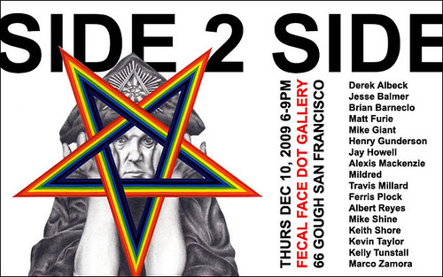side 2 side show at Fecal Face gallery