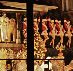 Garabedian house (Julia Manzerova) Tags: nyc newyorkcity winter newyork night dark weird insane bronx decoration ugly monstrosity tacky waste excessive loud outrageous antisocial foolish overthetop monstrous chrismas hideous garish frightful nauseating repulsive grisly crass florid 1605pelhamparkway