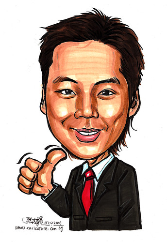 Caricature of Ronel Foo in colour
