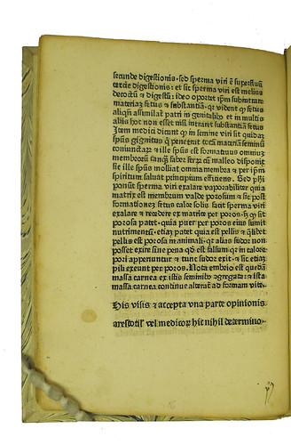 Manuscript gathering number in Albertus Magnus [pseudo-]: Secreta mulierum et virorum cum commento