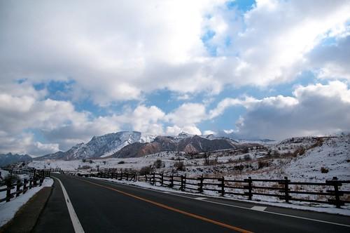 snowcapped(Mt.Aso)
