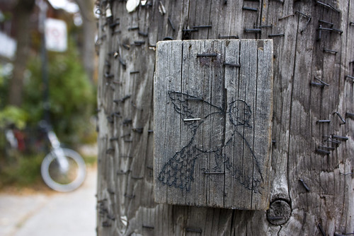 Hydro pole street art
