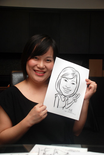 Caricature live sketching for Johnson & Johnson - 14