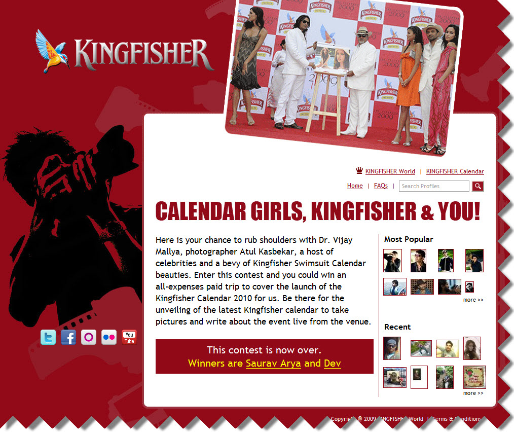 Kingfisher Calendar Launch Contest